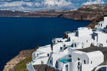 Greece, Santorini, Luxury Hotel On Crater Rim