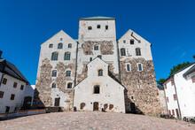 Finland, Turku, Entrance Of Turku Castle