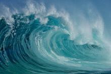 Large Splashing Wave Of Pacific Ocean