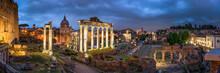 Roman Forum At Night, Rome, Italy