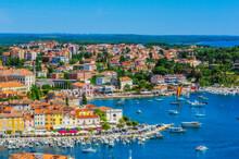 View Over Rovinj From Church Of St. Euphemia, Istria, Croatia