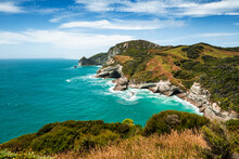 New Zealand, South Island, High Angle View Of Golden Bay