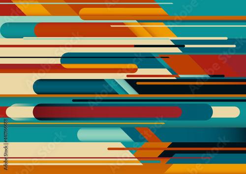 Abstrakcyjny wzór tła z kompozycją wykonaną z różnych kształtów geometrycznych. Ilustracja wektorowa do wykorzystania w projektach.