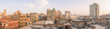 Panorama Of Broken Buildings Small Town In Cairo, Egypt