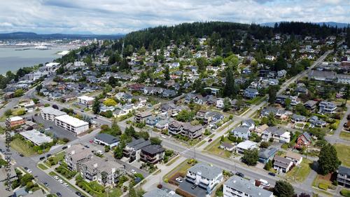Foto Aerial view of Bellingham, Washington near Boulevard Park