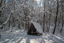 Gazebo, Winter, Snow, Gazebo In The Snow, Winter Forest