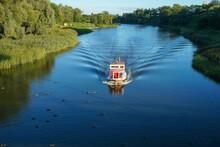 Russia. Tambov Region. Tambov. A Boat Trip On The Tsna River On A Summer Sunny Day