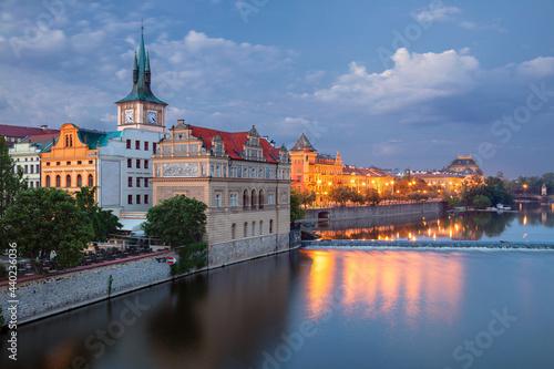 Obraz na płótnie Prague Riverside