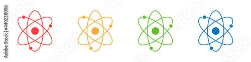Canvas Atom icons set isolated on white background