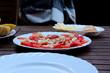 pomidory z cebulą, grill, sezon letni , lato