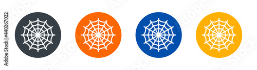 Fotografie, Obraz Spider web or cobweb icons set