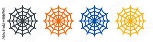 Fotografie, Obraz Spider web vector icon isolated on white background.
