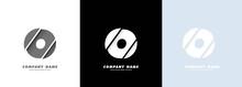 Abstract Art Alphabet Letter O Logo. Broken Design. Vector EPS 10. Isolated On White Background