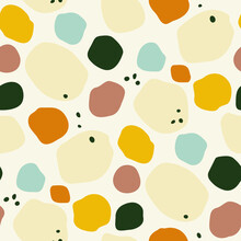 Abstract Spotty Vector Seamless Pattern