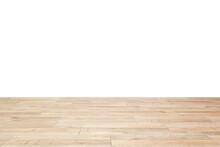 Wooden Floor On White Background.