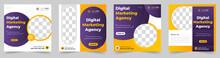 Digital Marketing Social Media Post Banner Template Set, Social Media Post Banner Design Template. Business Marketing Post. Digital Marketing Agency Post Banner, Digital Marketing Expert Banner.