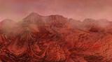 Mars landscape, science fiction illustration