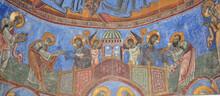 Frescoes On The Walls Of Akhtala Church In Armenia
