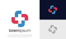 Abstract Logotype For Medical Pharmacy. Logo Design Template. Medical Health. Community Logo Design.