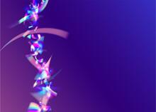 Light Texture. Rainbow Glare. Flying Foil. Transparent Glitter. Retro Banner. Crystal Art. Purple Shiny Tinsel. Blur Abstract Serpentine. Pink Light Texture