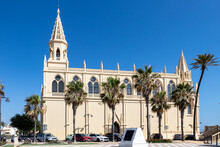 The Sanctuary Of Our Lady Of Regla De Chipiona, A Large Catholic Church, Built In 1906, With Gothic Architecture