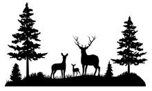 Vector Deer Family