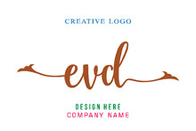 EVD Lettering Logo Is Simple, Easy To Understand And Authoritative