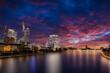 Frankfurt Skyline - Wolkenkratzer am Abend