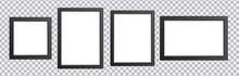 3d Photo Frame. Picture Frames Set On Transparent Background