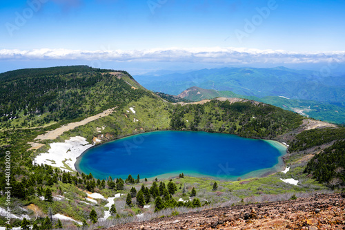 福島県・一切経山山頂から見下ろす魔女の瞳 Fototapet