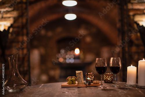Obraz na plátně old wine cellar