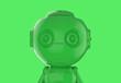Leinwandbild Motiv green single color ai robot