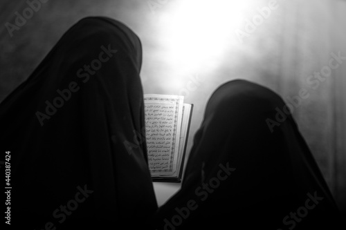 Fototapeta Praying at the shrine of Al-Abbas, the son of the Commander of the Faithful, in