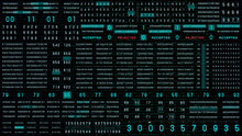 Binary Decimal Algorithm Data Number Security Selection System. HUD Futuristic Random Display Status Identification Illustration Background