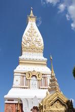 Wat Phra That Phanom At Nakhon Phanom, Thailand.