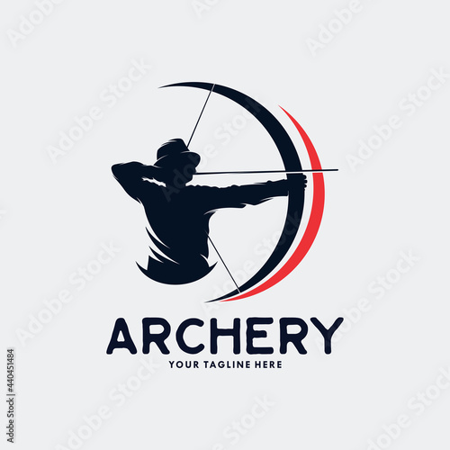 Vászonkép Archery Logo Template Design Vector