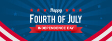 Happy Fourth Of July USA Independence Day Banner Vector Illustration