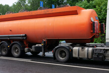 Fuel Truck. Carrier Of Gas Products. Transportation Of Gasoline.