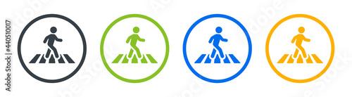 Obraz na plátně Pedestrian crossing icon