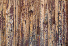 Wall Or Fence Wood Texture And Background, Vertical, Brown With Burnt Marks, Fire
