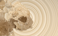 Damaged Sphere With Wood Material, 3d Rendering.