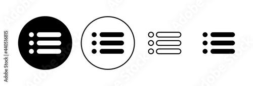 Fotomural Menu Icon set. web menu icon. hamburger menu symbol
