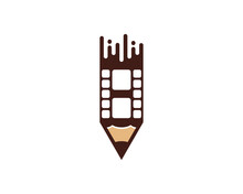 Combination Pencil With Reel Film Logo