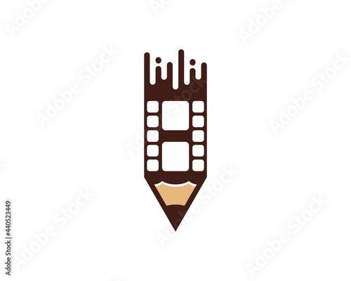 Combination pencil with reel film logo Fototapet