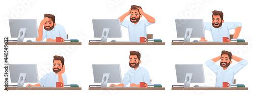 Fotografia Businessman at desktop