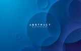 Blue abstract background elegant circle shape