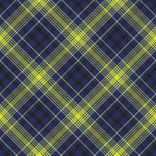 Yellow Chevron Plaid Tartan Textured Seamless Pattern Design