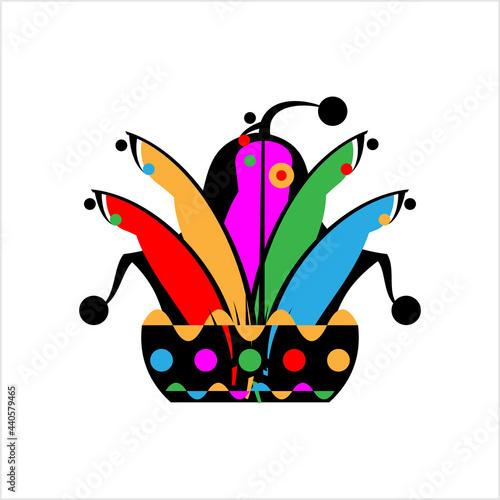 Obraz na plátně Joker Hat Icon, Funny Clown Icon