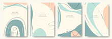 Modern Abstract Backgrounds.minimal Trendy Style. Various Shapes Set Up Design Templates Good For Background  Card Greeting Wallpaper Brochure Flier Invitation And Other. Vector Illustration
