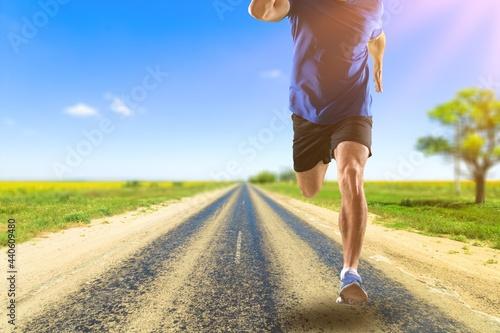 Runner. Fototapeta